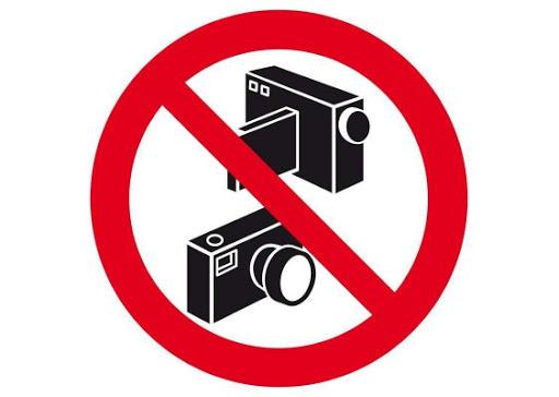 vidéos et photos interdites