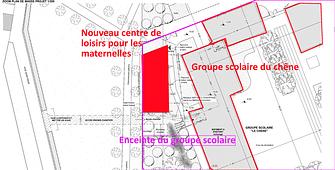 PLAN DE MASSE : implantation du centre