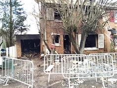 Maison après l'incendie