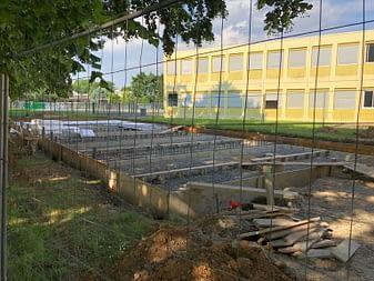 Dalle du centre périscolaire en construction : où sont les 7000m2 de l'ancien centre ?