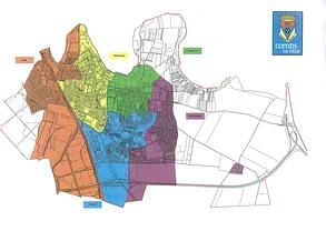 carte des Conseils de Quartiers 2008